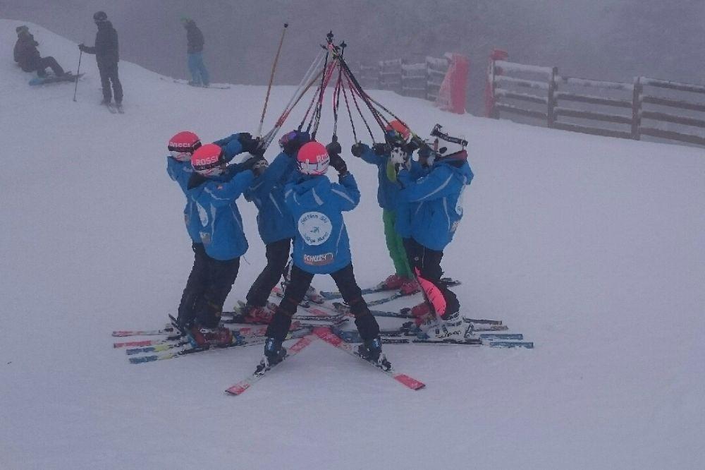 1ère séance pour la section ski...!