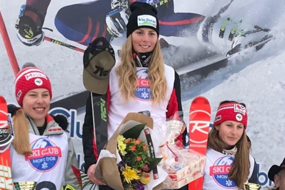 Ninon Esposito inaccessible en slalom