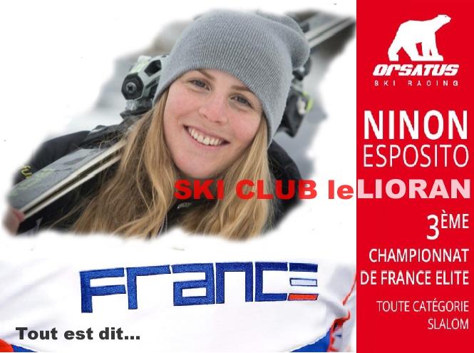 NINON appelée en EQUIPE de FRANCE 2018-2019