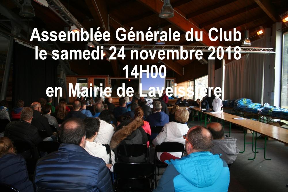 AG 2018 le 24 Novembre en Mairie de Laveissière