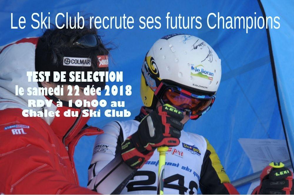 Journée de détection et d'intégration au Ski Club.