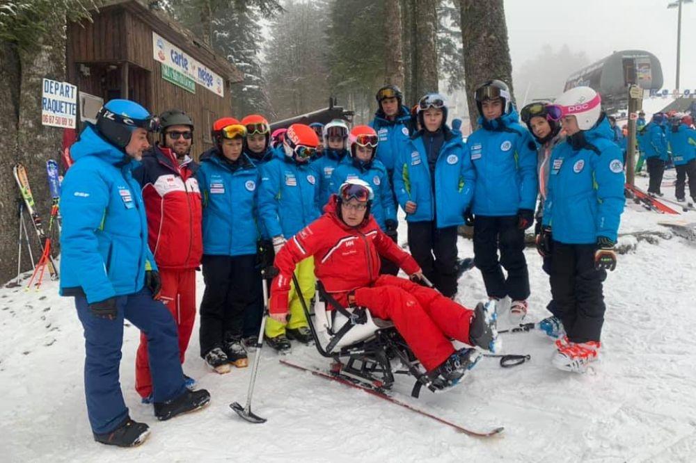Réception d'un fauteuil Handi-Ski