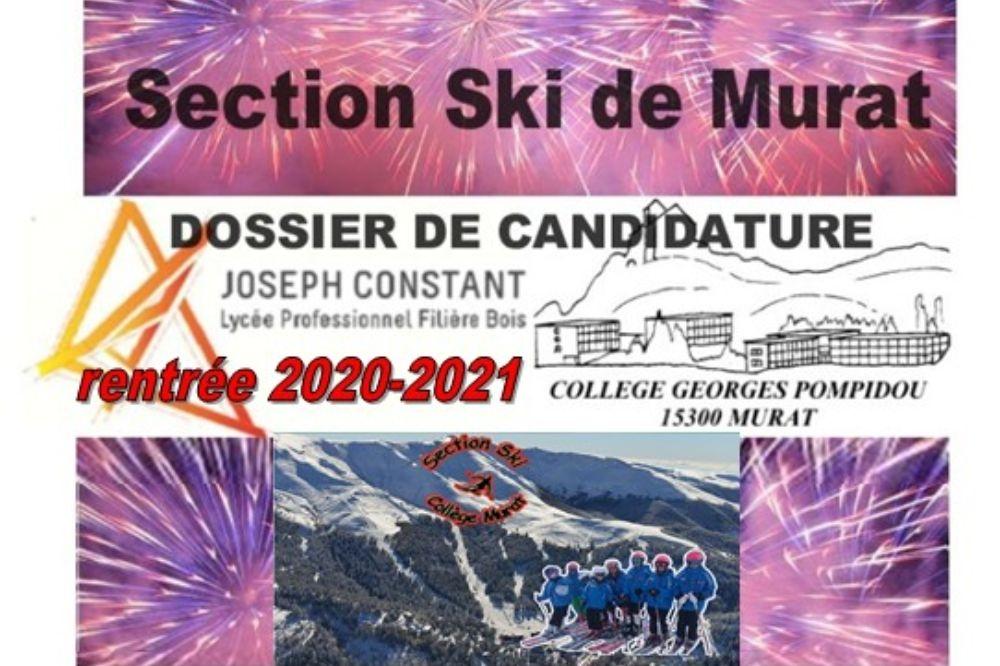 DOSSIER DE CANDIDATURE 2020/2021