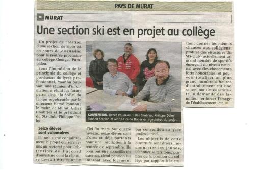 le ski club du lioran, acteur inconditionnel du projet !