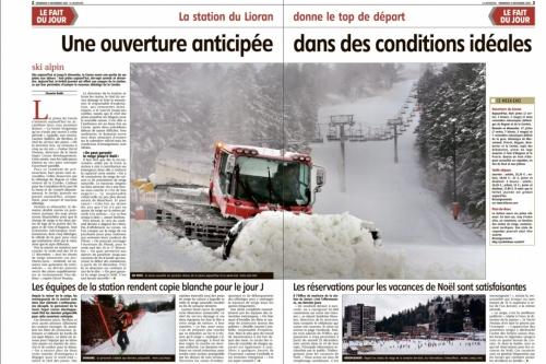 ouverture : ski libre et au kilomètre